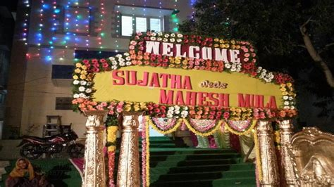 Wedding Name Board by Gallery 3 Marriage Decoration Arrangements In Tirumala