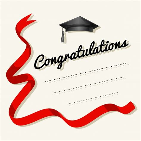 congratulations card template card template with congratulations word vector free