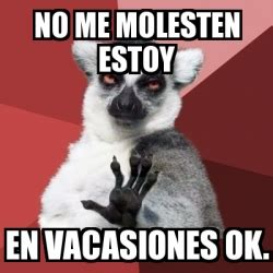 No Ok Meme - meme chill out lemur no me molesten estoy en vacasiones