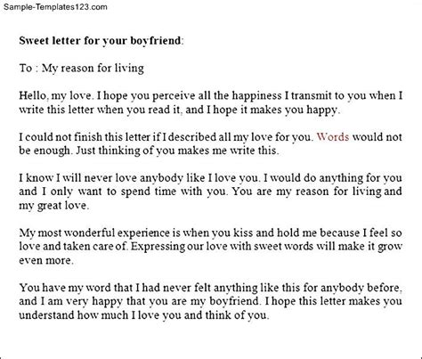 Apology Letter To Boyfriend For Accusing Him Of Letter To Your Boyfriend Sle Templates