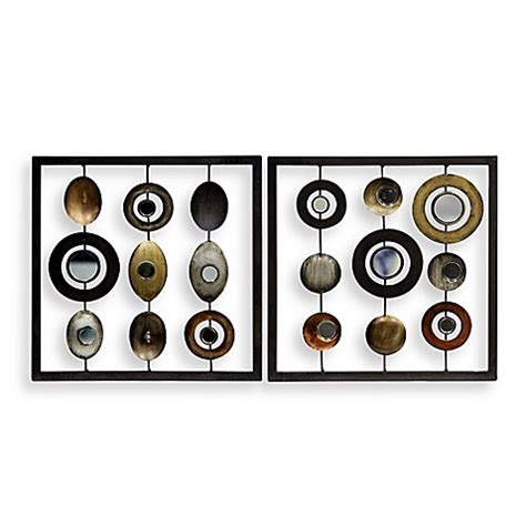 bed bath beyond wall decor metal circle and square 12 quot x 12 quot wall art bed bath beyond