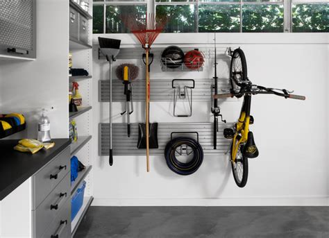 Garage Organization Hangers Garage Wall Track Modern Garage And Shed Other Metro