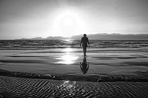 loneliness sea walk  photo  pixabay