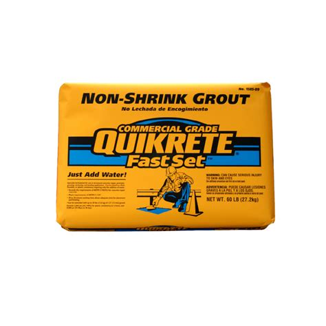 shop quikrete 60 lb non shrink grout at lowes