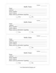 raffle ticket white template