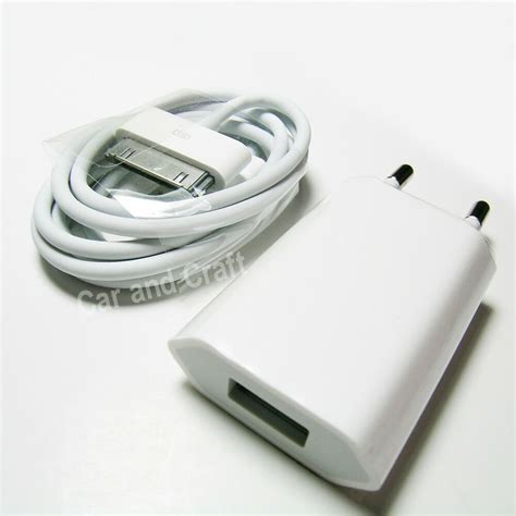 genuine apple iphone 4 4s 4gs eu charger adapter usb cable a1300 a1400 original ebay