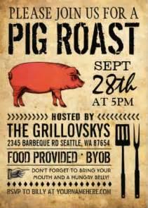 Backyard Bbq Invitations by Swine Amp Dine A Pig Roast Bbq