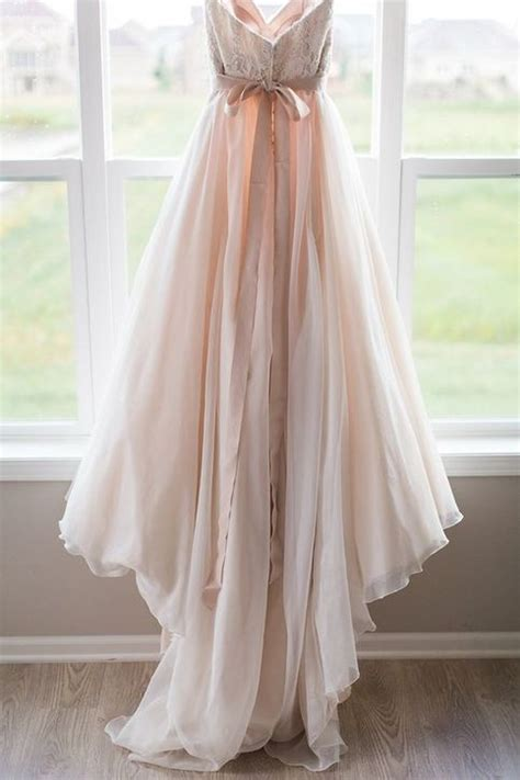 blush pink wedding dresses princess vintage ball gown lace