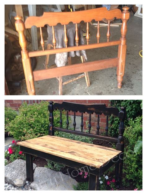repurposed bench 25 best ideas about headboard benches on pinterest