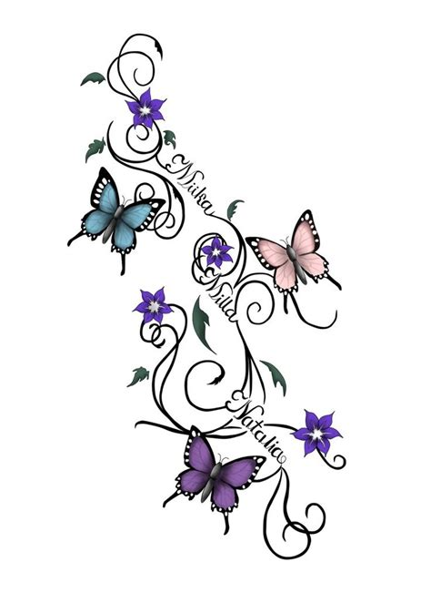 tattoo designs of butterflies and flowers 55 butterfly flower tattoos