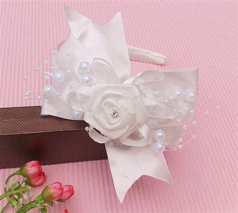 Mini Headpiece Handmade Satin Cokelat 17 best images about communion on mini albums white flowers and white headband