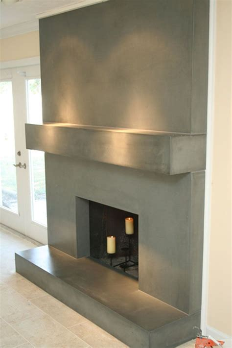 concrete fireplace surround  concrete living room  fireplace cabin fireplace