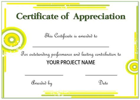 employee recognition card template 20 free certificates of appreciation for employees