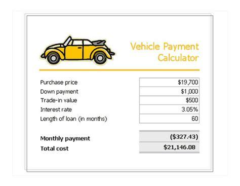 vehicle loan payment calculator vehicle loan payment calculator calculate vehicle loan