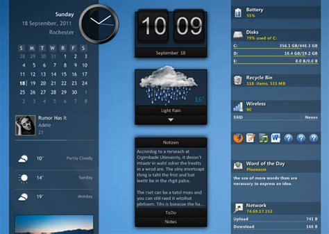 Win Win Win Gadget Skins From Skins4things by Getting Started Rainmeter