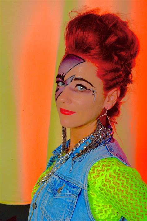 80s style 80s style dress makeup