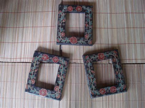 Plat Gantungan Pigura Bingkai Ukuran Kecil batik kayu krebet