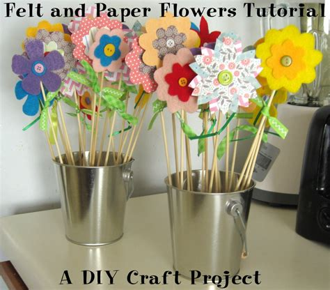 Paper Craft Tutorials Free - felt and paper flowers tutorial diy craft project
