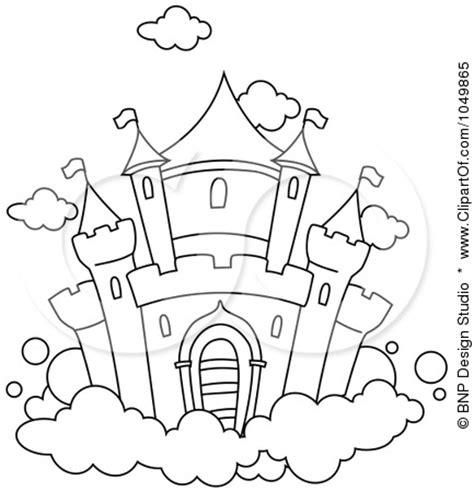 castle outline coloring page princess castle cartoon outline