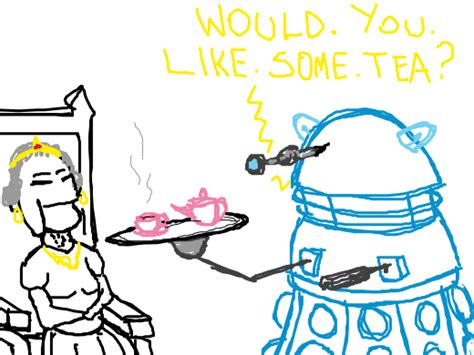 doodle or die ideas a dalek tea for the of