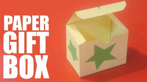 How To Make A Present Out Of Paper - how to make a paper gift box with lid