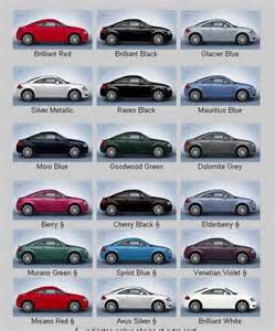 audi color chart pictures to pin on pinsdaddy