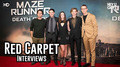 actor maze runner the death cure maze runner the death cure premiere interviews dylan o