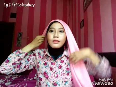 Jilbab Segi 4 Satin Segiempat Satin tutorial segi empat satin simple fasion frischa
