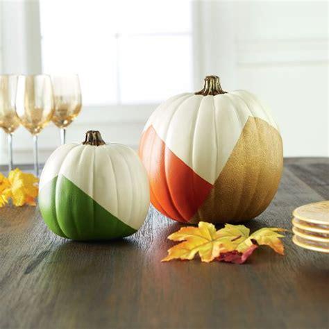 Pumpkin Colored Curtains Decorating Diy Color Block Craft Pumpkins For Fall Decor Pumpkin Ideas Pinterest Pumpkin Crafts
