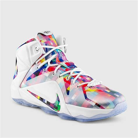 best basketball shoes for heel nike lebron 12 ext prism multi color white