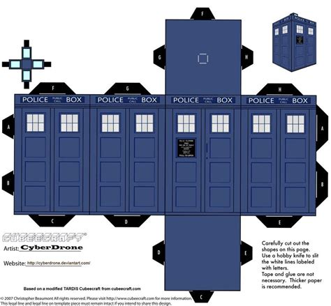 doctor who paper crafts gadgetsin