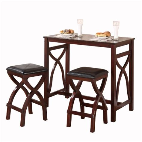 homelegance saddleback 3 piece counter dining room set in oak beyond stores how do i homelegance 2557 36 3a 3 piece counter height