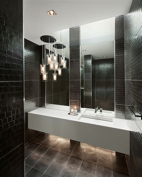 Black Bathroom Chandelier Inspired Sonneman Lighting In Bathroom Contemporary With
