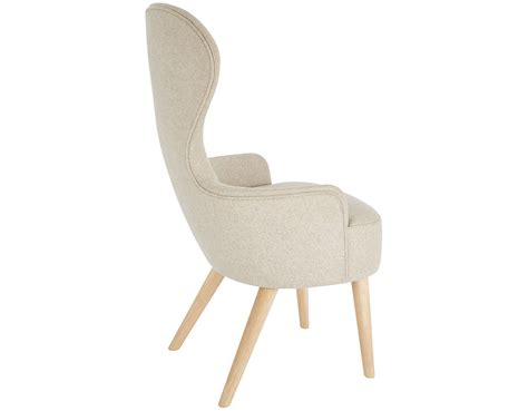 Wing Dining Chairs Wingback Dining Chair With Wood Legs Hivemodern