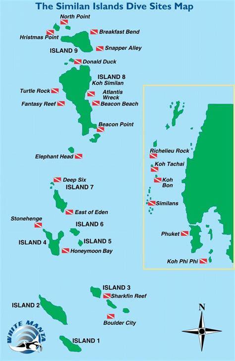 mikes resort dive map similan island dive site amazing dive resorts