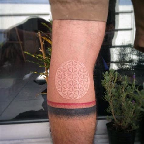 back of knee tattoo 100 white ink tattoos for cool colorless design ideas