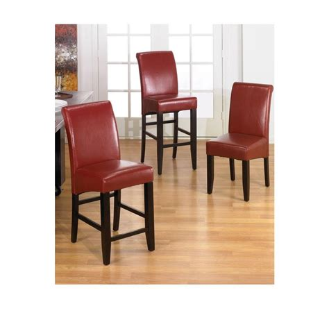 Metro Parsons Bar Stool by Office Metro 30 Quot Parsons Bar Stool In Crimson