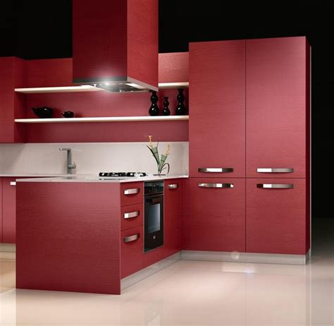 Basement Bar Cabinets by Red Laminate Kitchen Design Ideas Iride Frassino 3 Jpg