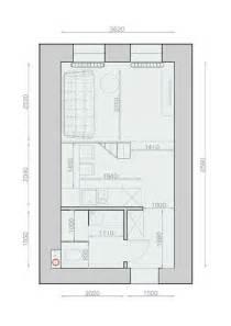 agréable Revetement De Mur Pour Salle De Bain #3: plan-maison-amenagement-studio-20m2.jpg