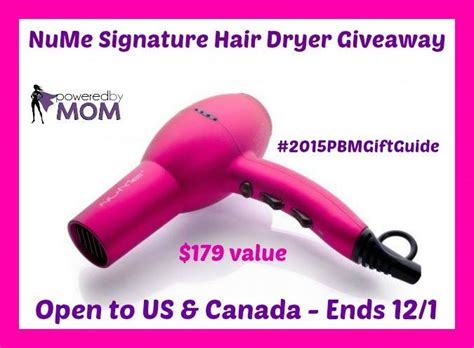 Nume Giveaway - nume signature hair dryer giveaway 179 value