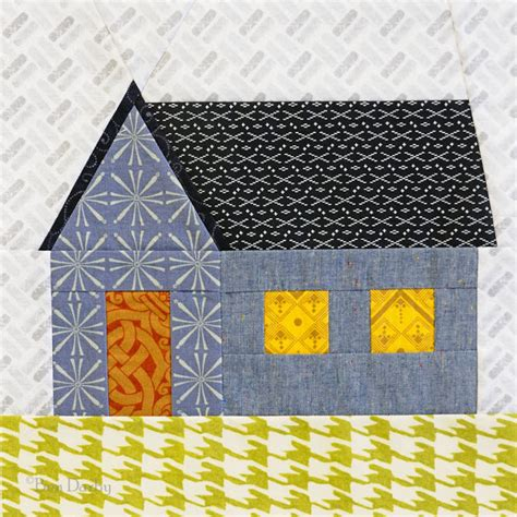 pattern paper montreal huntspatch quilts gabled house a free paper piecing