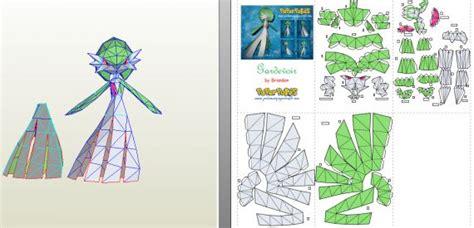 Gardevoir Papercraft - gardevoir origami papercraft and
