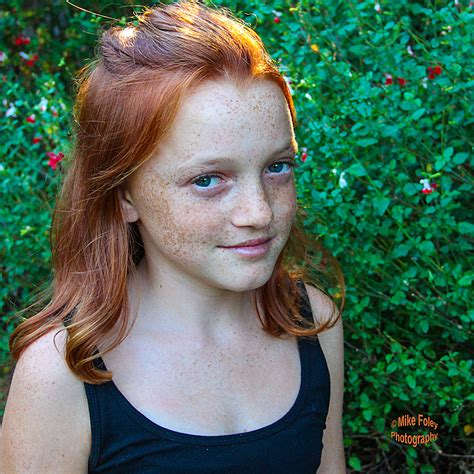 tween freckles ginger girl pre teen bright redhead freckles on