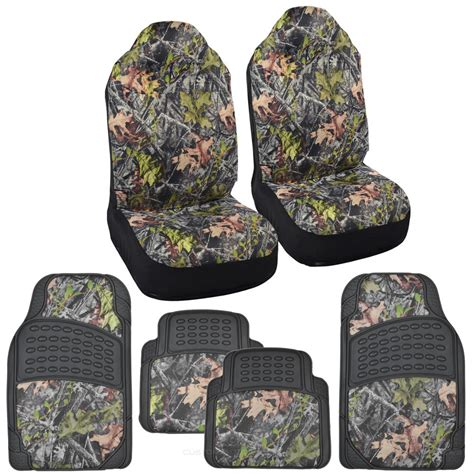 Camouflage Car Mats by Camo Seat Covers Heavy Duty Rubber Floor Mats Forest