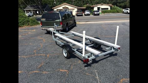 boat trailer rollers pontoon the pro strike 126 mini pontoon boat trailer youtube