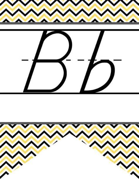 printable cursive alphabet banner bees alphabet banner handwriting a to z d nealian
