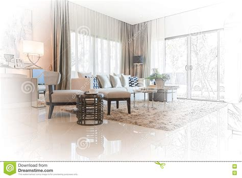 Room Interior Sketch Chair Sofa by Interior Sketch Design Of Modern Living Room With Modern