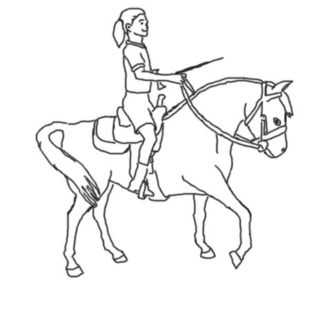 pony ride coloring pages boy riding pony coloring pages