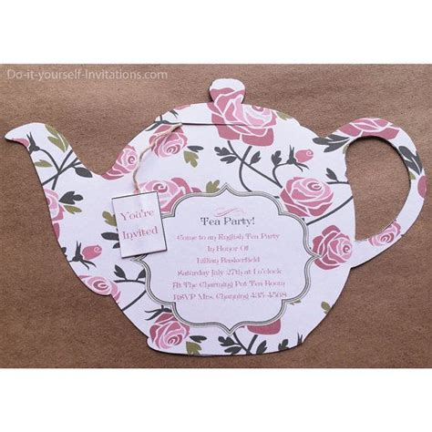 Tea Invitation Templates by 1000 Ideas About Tea Invitations On Tea