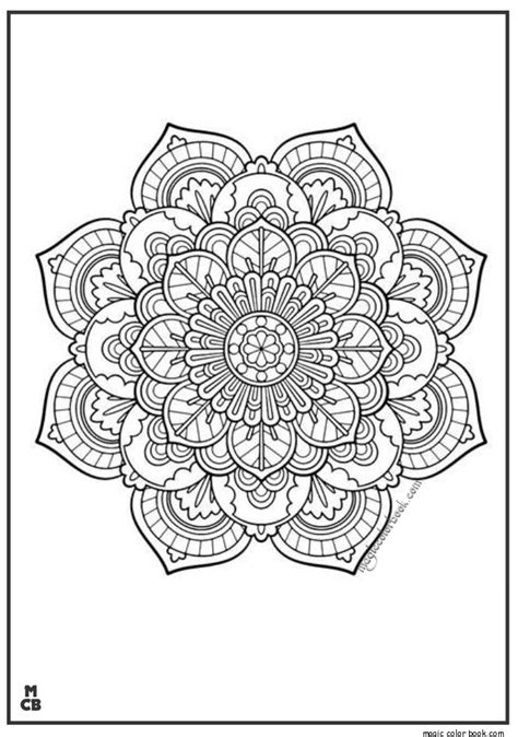 pattern coloring book books mandala vintage adults patterns coloring pages